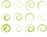 grün Flora Spirale