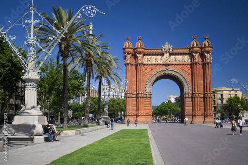 Papiers peints Barcelona Arc de Triomf in Barcelona in a bright summer day