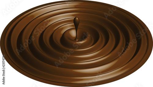 Fototapeta kropla czekolady obraz na płótnie