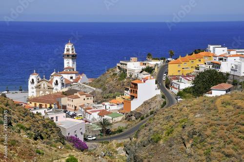 Vue aérienne de la ville de Candelaria à Ténérife aux Canaries Canvas Print