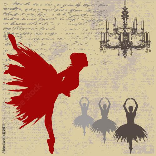 Obrazy Edgar Degas  ballerina-background