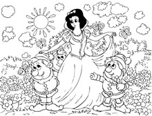 Snow White And Gnomes