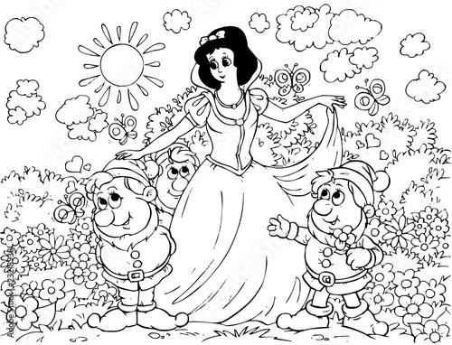 Fotografie, Obraz  Snow White and Gnomes