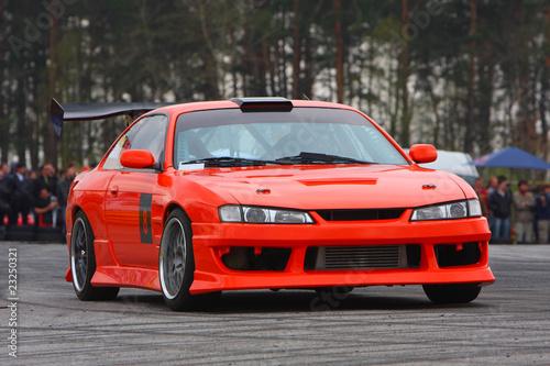 Poster Voitures rapides Orange sport car