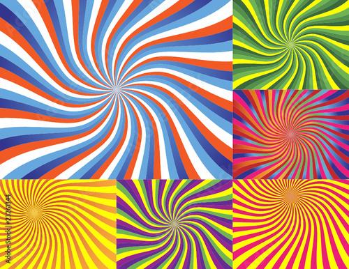 Poster Psychedelique 6 Wave Backgrounds