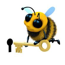 3d Honeybee Uses His Key