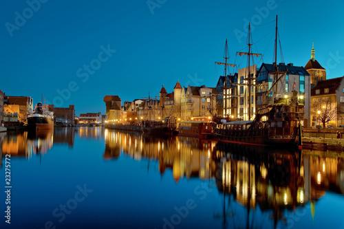 obraz PCV Gdańsk Riverside w nocy