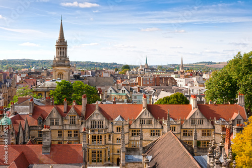 Cuadros en Lienzo Above Oxford. England