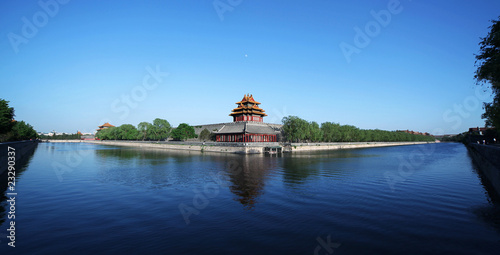 Foto op Aluminium Beijing The Forbidden city in Beijing, China. Panoramic view