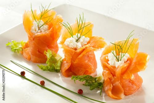 Fotografie, Obraz  Smoked salmon