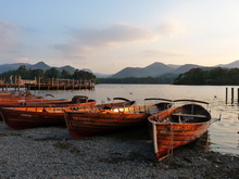 Rowing Boats At Derwent Water