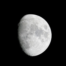 Close-up Of The Waxing Gibbous...