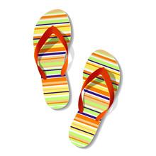 Pair Of Flip Flops. Vector.