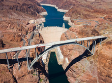 Aerial View Of Hoover Dam And ...