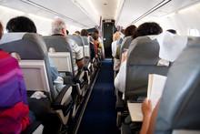 Plane Passengers Inside Airpla...