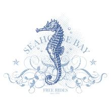 Seahorse Bay - Retro Summer Design Element