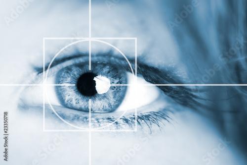 Poster Iris Auge - Überwachung