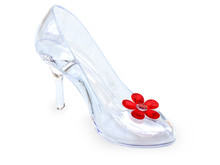Crystal Glass Female Shoe
