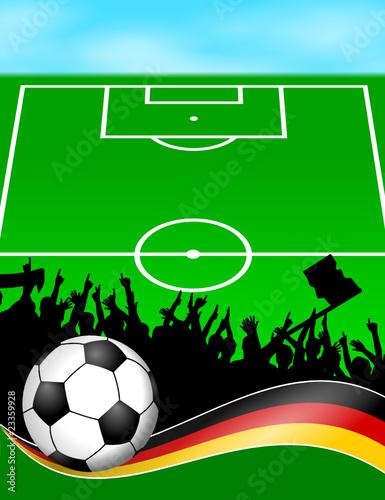Plakat Fussball Feld Deutschland Xiii Buy This Stock