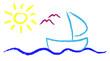 Abstrakt - Urlaub auf dem Wasser - Wir segeln