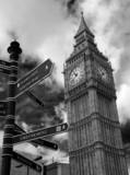 Fototapeta Londyn - Big Ben & Signs