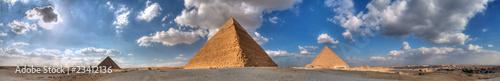Tuinposter Egypte The three great Pyramids at Giza