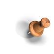 Leinwandbild Motiv design element for eco note - wooden thumb tack or pin
