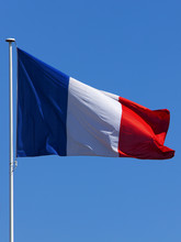 French Flag At Pole