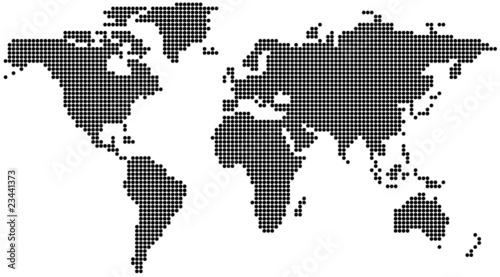 Foto op Plexiglas Wereldkaart Dotted World Map - background illustration