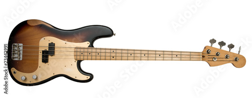 Fototapeta brown bass guitar