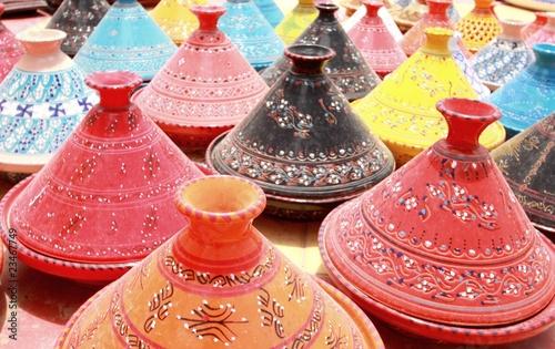 Deurstickers Marokko Tunisie - Houmet-Souk - Tajines