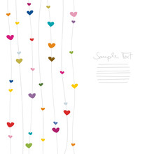 Hanging Hearts Colour/White