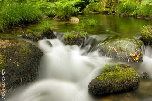 Foto auf Gartenposter Forest river Beautiful mountain river, long exposure