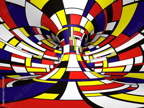 Valokuva  Abstract 3D Mondrian style