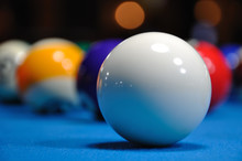 Billiards - Cue Ball With Other Colorful Balls