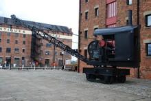 Railway Crane On Gloucester Do...