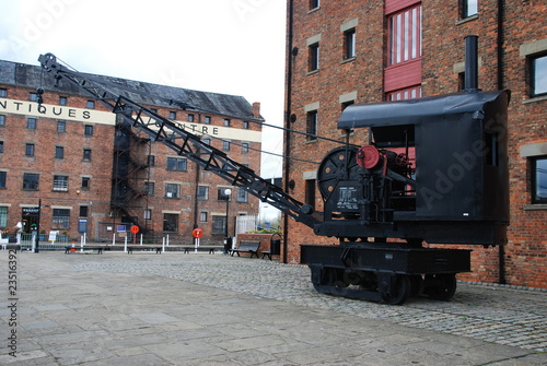 Fotografie, Obraz  Railway crane on Gloucester docks