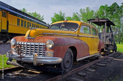 In de dag Havana Old Car and Train