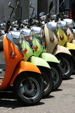 Colorful Scooters