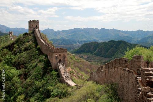 Montage in der Fensternische Chinesische Mauer Great wall in Simatai