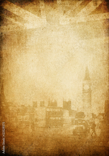 Grunge vintage background. London theme. With space for text. Wallpaper Mural
