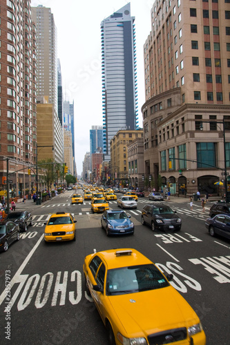 Staande foto New York TAXI taxi