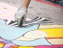 Chalk Art On A Sidewalk