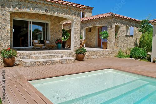 Fotografie, Obraz  terrasse piscine