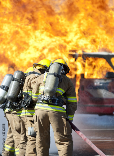 In de dag Vuur Fire training exercise