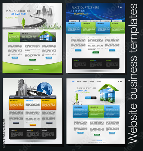 Fotografie, Obraz  exclusive website business templates, first set