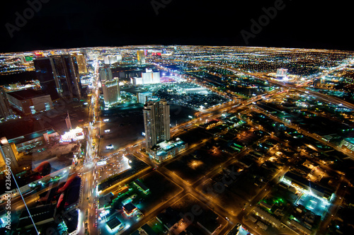 Spoed Foto op Canvas Las Vegas Las Vegas Strip at Night