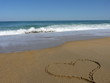 coeur sur le sable #1