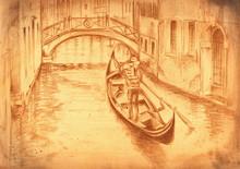 Venice-gondola.My Own Artwork.