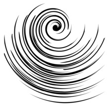 Vector Image Of A Black And White Spiral